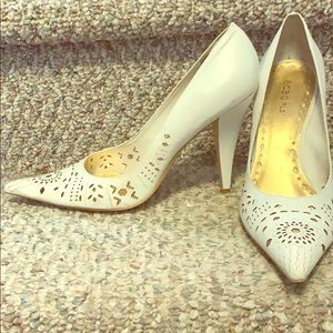 BCBG Girls White Heels